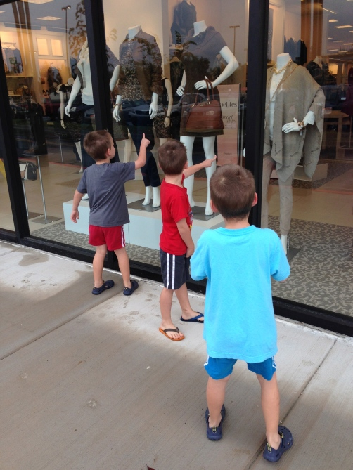 Picking out their favorite outfits at Dress Barn
