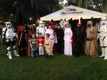 With the whole Star Wars crew