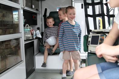 In an ambulance