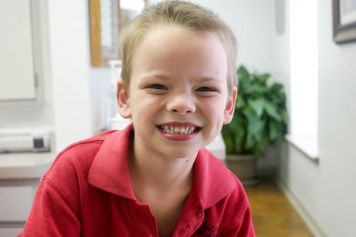 Miles's clean teeth!