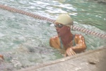 Heather swimming