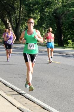 Heather on her run
