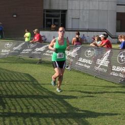Heather finishing!