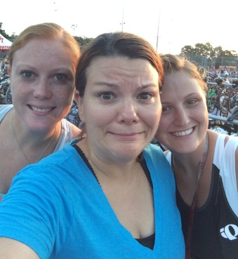 Nervous pre-race selfie