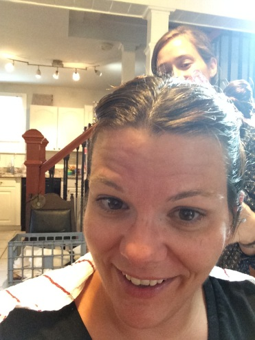 Getting a lice treatment. Yeah.