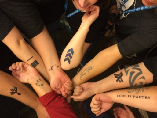 The tattoos we all got