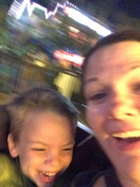 Me and Ollie on the Scrambler