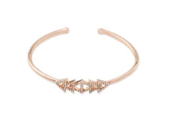 Pavé Triangle Cuff - Rose Gold