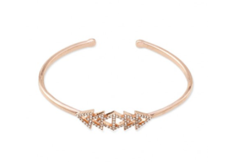 Pavé Triangle Cuff - Rose Gold
