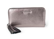 Mercer Zip Wallet- Pewter Metallic