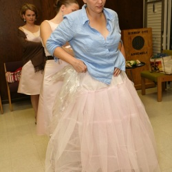 The ubiquitous pink petticoat, dyed by myself.