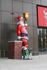 Visiting the giant Santa