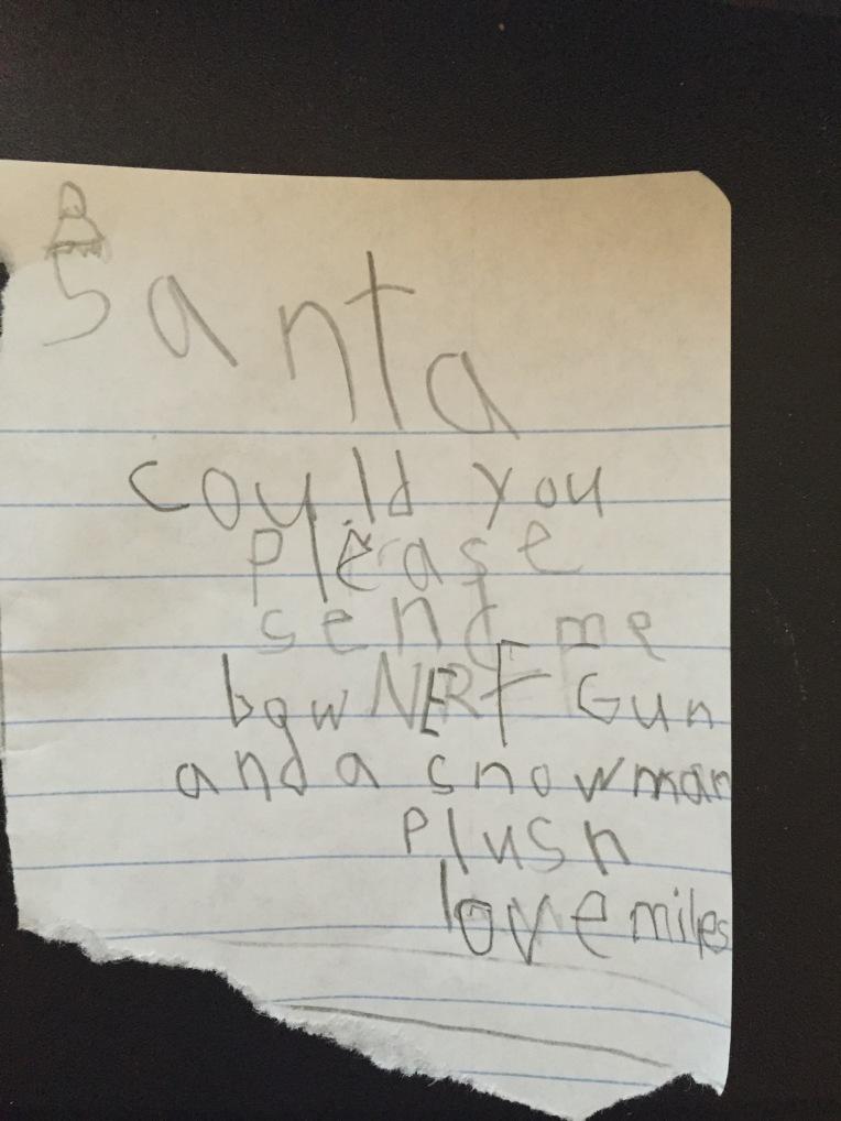 Miles's Santa letter