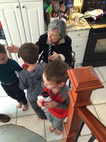 Saying hi to Granny