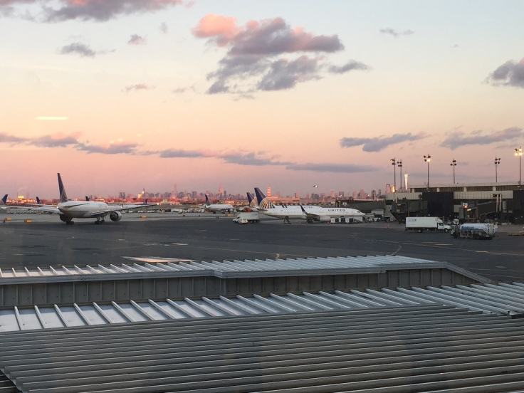 The skyline from Newark.