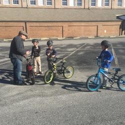 Bike training.