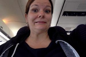Airplane selfie!