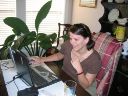 Working remotely at my mom's. 10 years before I'd do it full-time!