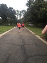 Running into Audubon Park at about mile 7