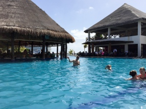 The pool at Costa Maya