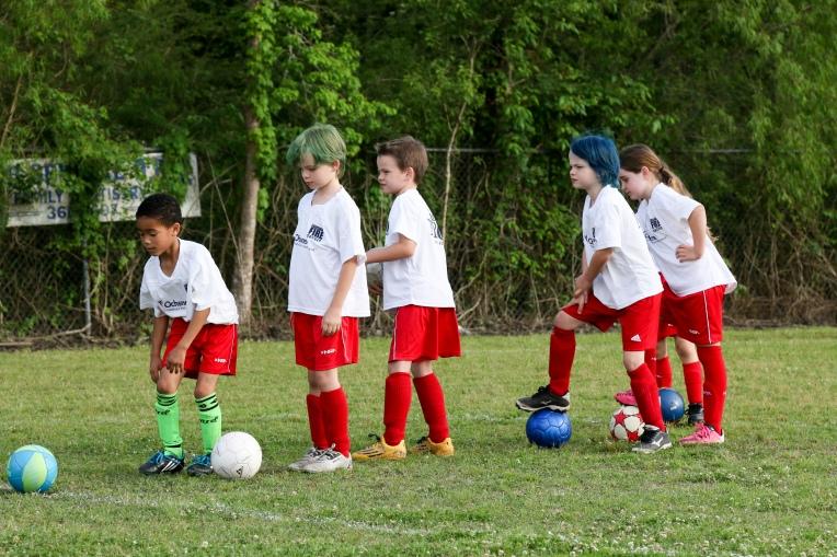 April 19 - At soccer