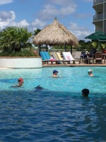 Swimming at the Caribe