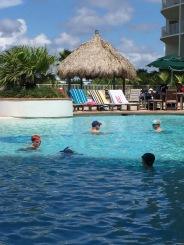 Swimming at the Caribe