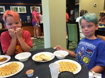 Hotel breakfast!