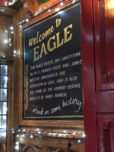 At the Eagle, where DNA was discussed.