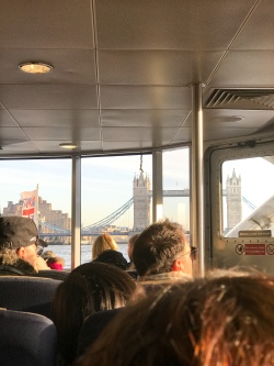Tower Bridge from the boat to Greenwich