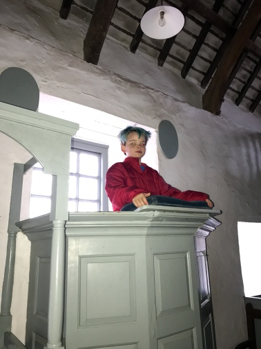 Linus at the pulpit