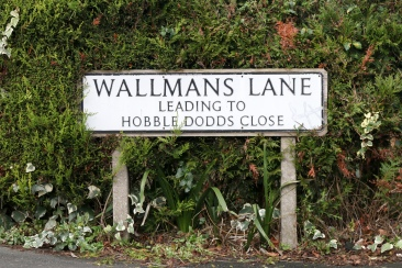 Hobble Dodds Close is my new favorite place name ever.