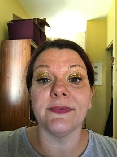 Checking my glittery eyelids.