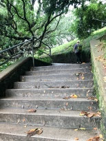So many stairs just to get into the park!