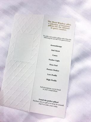 Pillow menu!