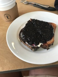 Blueberry toast!