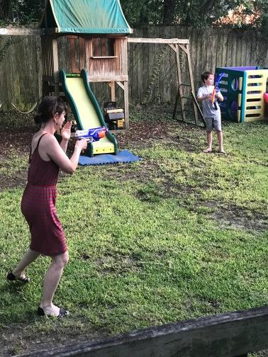Jenn shooting my kids!