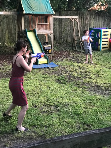 Jenn shooting my kids!