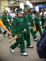 Liam marching and embarrassed of us