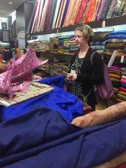Deborah bought some fabric too!