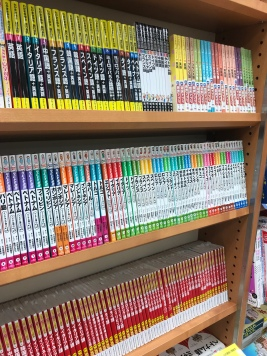 The shelves in the bookstore are so pretty!