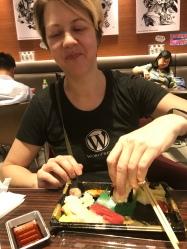 Deborah had real sushi!