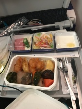 Pretty airline meal