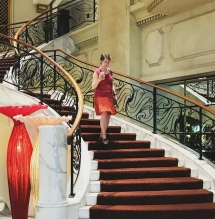 Deborah matches the hotel.