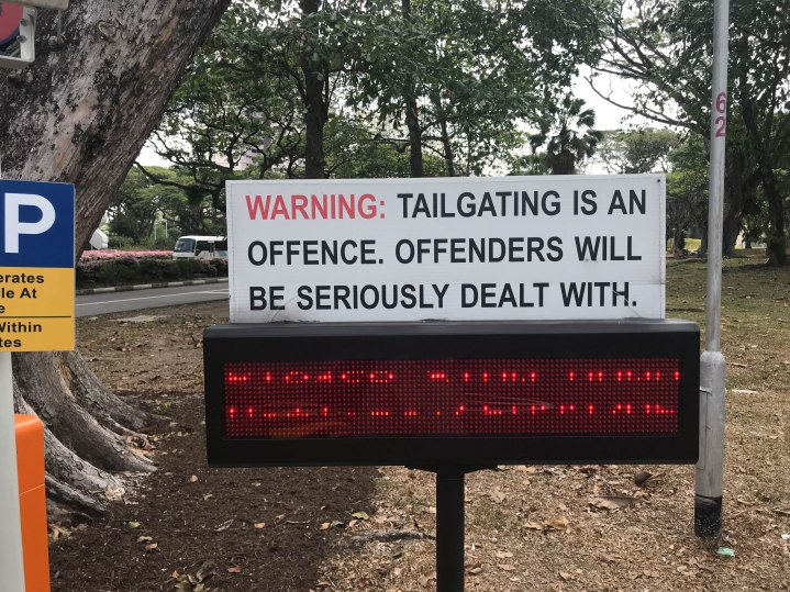 They have the best signs in Singapore.