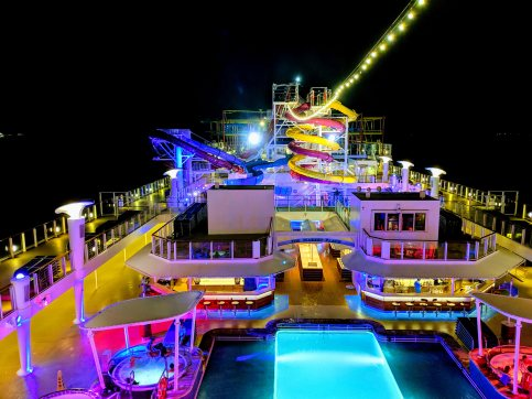 The ship at night