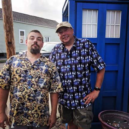 Doctor Who shirts for George and Neil