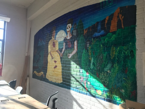 A mural done by students
