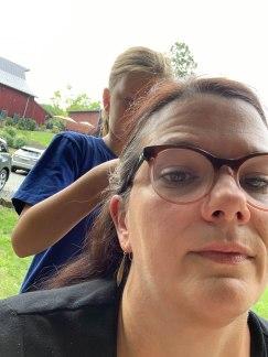 Emily braided my hair!