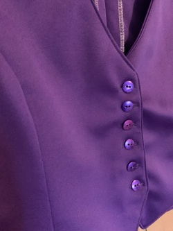 The vest and its painted buttons